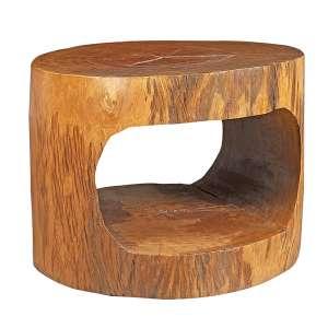 HUGO FRANÇA - Mesa em madeira de pequi amarelo. - 52 x 65 cm - Ex. coleção Renee Sasson.