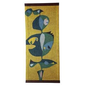 """ALICIA ROSSI - """"Tapeçaria"""" - Pintura sobre tecido - Ass. no centro inf. - 110 x 50 cm - Ex. Coleção Renné Sasson."""