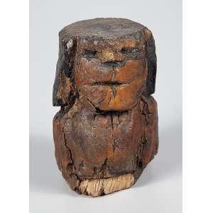 """CONCEIÇÃO DOS BUGRES - """"Bugre"""" - Escultura em madeira revestida por encaustica - Assinada. - 12,5 cm"""