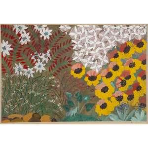 """ISABEL DE JESUS - """"Flores"""" - Óleo sobre cartão - Ass.dat.1965 centro inf. - 34 x 50 cm"""