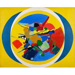 """MARIA POLO - """"Sem título"""" - Óleo sobre tela - Ass.dat.1969 inf. esq. 80 x 100 cm"""