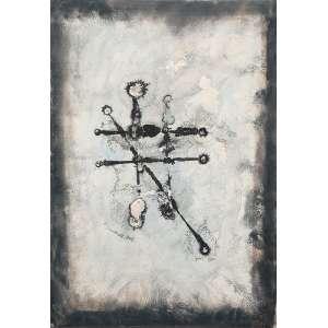 """ANTÔNIO BANDEIRA - """"Sem título"""" - Aquarela sobre papel - Ass.dat.1966 inf.dir. 50 x 34 cm - Obra adquirida no leilão Aloisio Cravo."""
