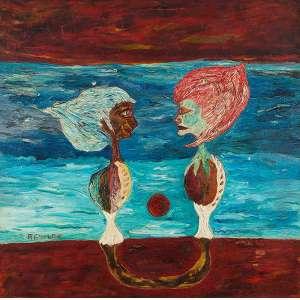 """JOSÉ ROBERTO AGUILAR - """"Geometrista"""" - Óleo sobre tela - Ass.inf.esq. - Déc.60- 130 x 130 cm - Reproduzido na pág. 31 do livro do artista. Coleção Lucila Meirelles."""
