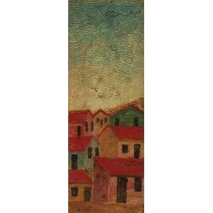 Lorenzato<br>Vilarejo - óleo sobre papelão <br>25 x 09