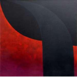 Tomie Ohtake<br>Sem título - ost <br>1986 - 100 x 100 <br>Registrada no projeto sob o cód. P.86/42
