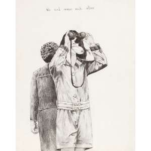 Felipe Lippe - WIR SIND IMMER NOCH ALLEIN - desenho em grafite - 2012 - 29 x 22,5