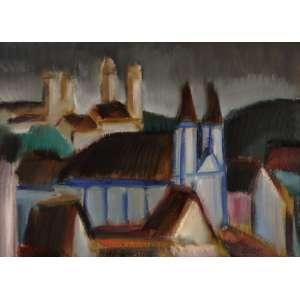 Carlos Bracher - Paisagem de Mariana - ost - 1991 - 60 x 81