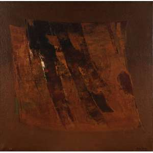 Fukushima - Abstração marrom - ost - 100 x 100