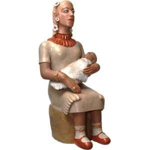 Isabel Mendes da Cunha <br>Mãe e filho - cerâmica <br> 83 x 35 x 40
