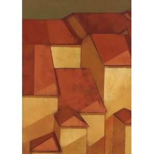 Carlos Scliar<br>Paisagem XIII - vest <br> 1979 -37 x 26