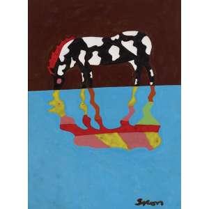 Siron Franco<br>Cavalo - pintura sobre cerâmica <br> 40 x 30