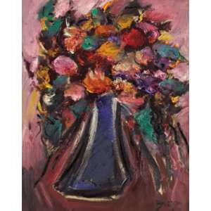 Carlos Bracher<br>Flores - ost <br> 92 x 73