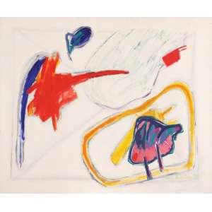 Luiz Áquila<br>A pintura e a hora do título - ast <br> 1994 -90 x 110