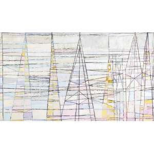 Gonçalo Ivo<br>Les Cathédrales Primitives - ost <br> 2004 - Situado Paris -113 x 193<br>Apresenta etiqueta da Dan Galeria