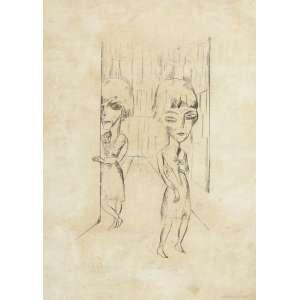Lasar Segall<br>Figuras - litografia <br> 56 x 41