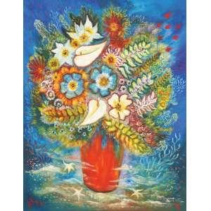 Bax<br>Flores no mar - ost <br> 1972 -85 x 67<br>Reproduzida à pág 96 do livro Bax,Vida e Obra de Ivone Luiza Vieira