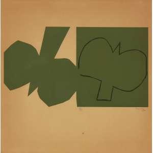 Milton Dacosta<br>Pássaro - litografia 10/30 <br> 1962 -45 x 45<br>Procedência: Bolsa de Arte