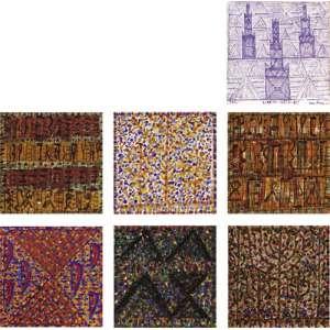 Fernando Lucchesi<br> lote contendo sete obras - ose <br> 30 x 30