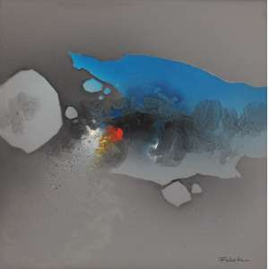 Fukuda<br>Sem título - ast <br> 1988 -50 x 50<br>Galeria Tina Zappoli
