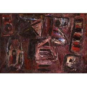 Iberê Camargo - Pintura - ost. 1980 - 55 x 78. Etiqueta da Galeria Cláudio Gil.