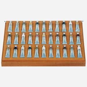 Adriana Varejão -Tintas Polvo -Caixa de madeira com tampa de acrílico e 33 tubos de tinta óleo - 2013-Certificado emitido pela Galeria Fortes Villaça
