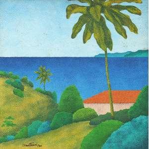 Cláudio Tozzi - Paisagem - ast - 1979 - 64 x 64 - Etiqueta da Galeira Paulo Figueiredo