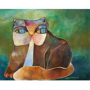 Aldemir Martins - Gato - ast - 1997 - 80 x 100 - Reproduzida no Livro artista. Certificado assinado pelo artista.
