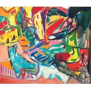 Jorge Guinle - A cabo da frigideira - ost - 1982 - 170 x 200 - Participou da exposição Projeto ABC - Carlos Zilo e Jorge Guinle realizada no MAM Rio de Janeiro Apresenta etiqueta no verso.