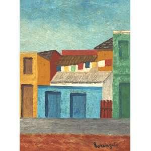Lorenzato - Casas e varal - ose - déc 80 - 40 x 30