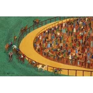 Rosina Becker do Valle - Corrida de cavalos - ost - 1959 - 65 x 100