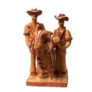 Noemisa Batista dos Santos - Vacinando o boi terracota - 23 x 13 x 15
