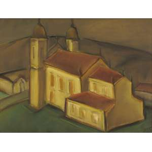 Carlos Bracher - Igreja Nossa Senhora do Carmo Sabará, MG ost - 1978 54 x 73