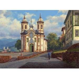 Baptista Garíglio - Igreja São Francisco de Assis ost - 52 x 70