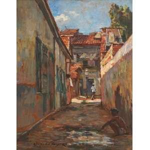 Oswaldo Teixeira - Rio antigo ose - 1944 42 x 33