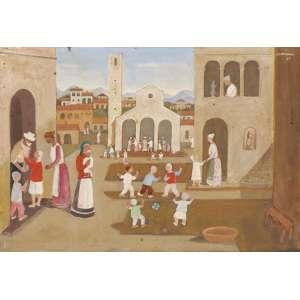 Fulvio Pennacchi - Aldeia Toscana ose - 1983 35 x 50
