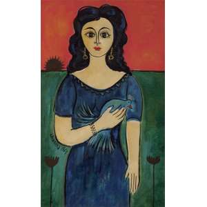 Chanina - Mulher com pássaro ost - 1963 61 x 40