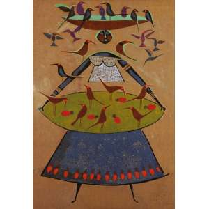 Héctor Carybé - Baiana Serigrafia sobre juta - 73/75 175 x 120