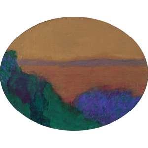 Glauco Rodrigues - Paisagem com céu dourado ost - 2003 43 x 55