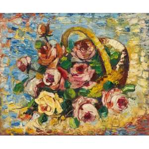 Mário Zanini - Cesto de flores ost - 45,5 x 54,5