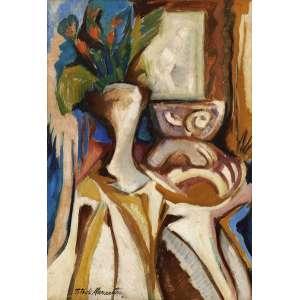 Tito de Alencastro - Natureza morta com tulipas ose - 1968 61,5 x 45 - Ex Coleção Jayme Tiomno e Elisa Frota Pessoa