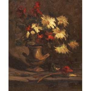Arcângelo Ianelli - Flores ost - 1948 74 x 60 - No verso, carimbo de participação no 5º Salão Paulista de Belas Artes