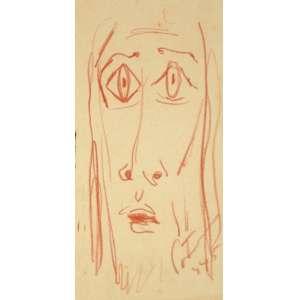 Cândido Portinari - Cabeça de Cristo desenho - 1945 22 x 11 - Registrada no projeto Portinari sob o código FCO 2520. Reproduzida no Raisonné do artista.