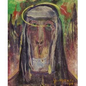 Alberto da Veiga Guignard - Nossa Senhora ose - 1961 16,5 x 13,5 - Reproduzida no livro Guignard arte e vida de Lélia Coelho Frota, à pág. 425.