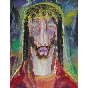 Alberto da Veiga Guignard - Cristo osm - 1961 45 x 36 - No verso declaração de Santiago Americano Freire