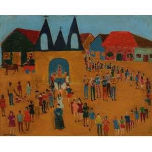 Djanira - Festa óleo sobre placa - 40 x 50