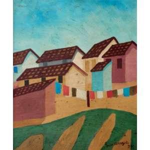 Lorenzato - Casas e varal oscse - 1977 40 x 33