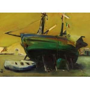 Danilo Di Prete - Barco ost - 70 x 100 - Participou da exposição Eram Brasileiros os que ficaram em 1993 na Pinacoteca/SP . Ex coleção Orandi Momesso.