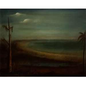 Orlando Teruz - Paisagem ost - 1951 81 X 100 - Etiqueta da Galeria Ipanema