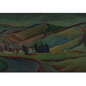 Carlos Bracher - Paisagem com casas e campos cultivados ost - 1978 65 x 92