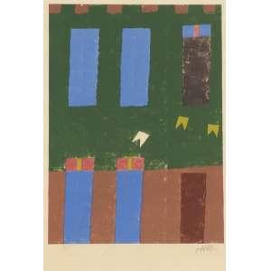 Alfredo Volpi - Sem título serigrafia 38/140 - 55 x 38